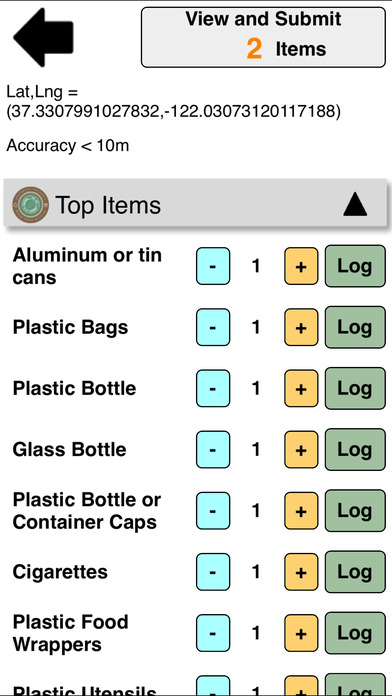 The Marine Debris Tracker mobile app makes it easy for scientists and community members to log litter they pick up. Courtesy of Jambeck.